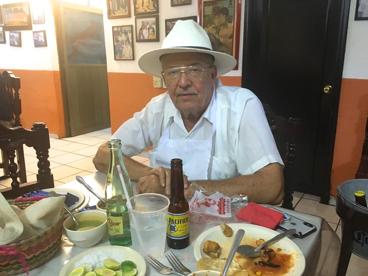 Señor Sanchez at Cuchupeta's in Mazatlan, Mexico