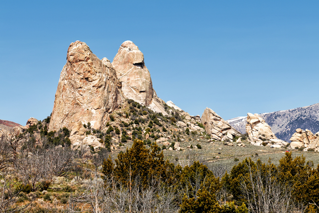 Dramatic stone spires comprise the skyline at City of Rocks Reserve in Idaho. Photo by Pix569/Dreamstime.com