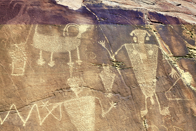 Petroglyph rock carvings are reminders of people who once lived in present-day Dinosaur National Monument. Photo by Maclej Biedowski/Dreamstime.com
