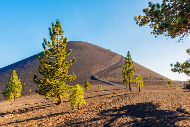 One of the cones for which Lassen Volcanic National Park is named. Photo by Allard1/Dreamstime.com