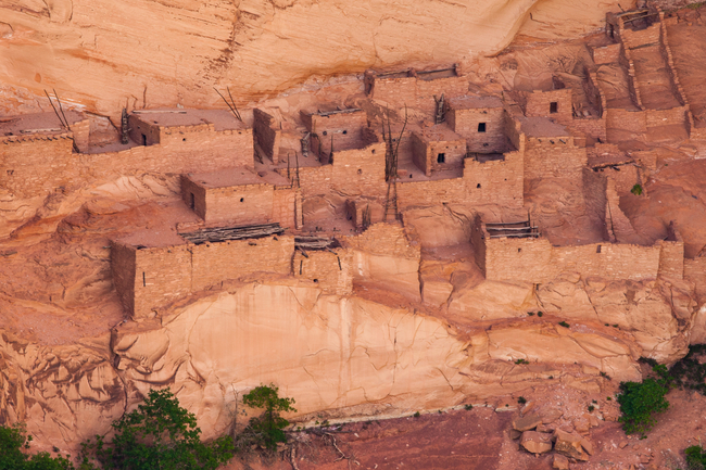 Sandstone cliff complexes once served as homes to prehistoric people. Photo by Rinus Baak/Dreamstime.com