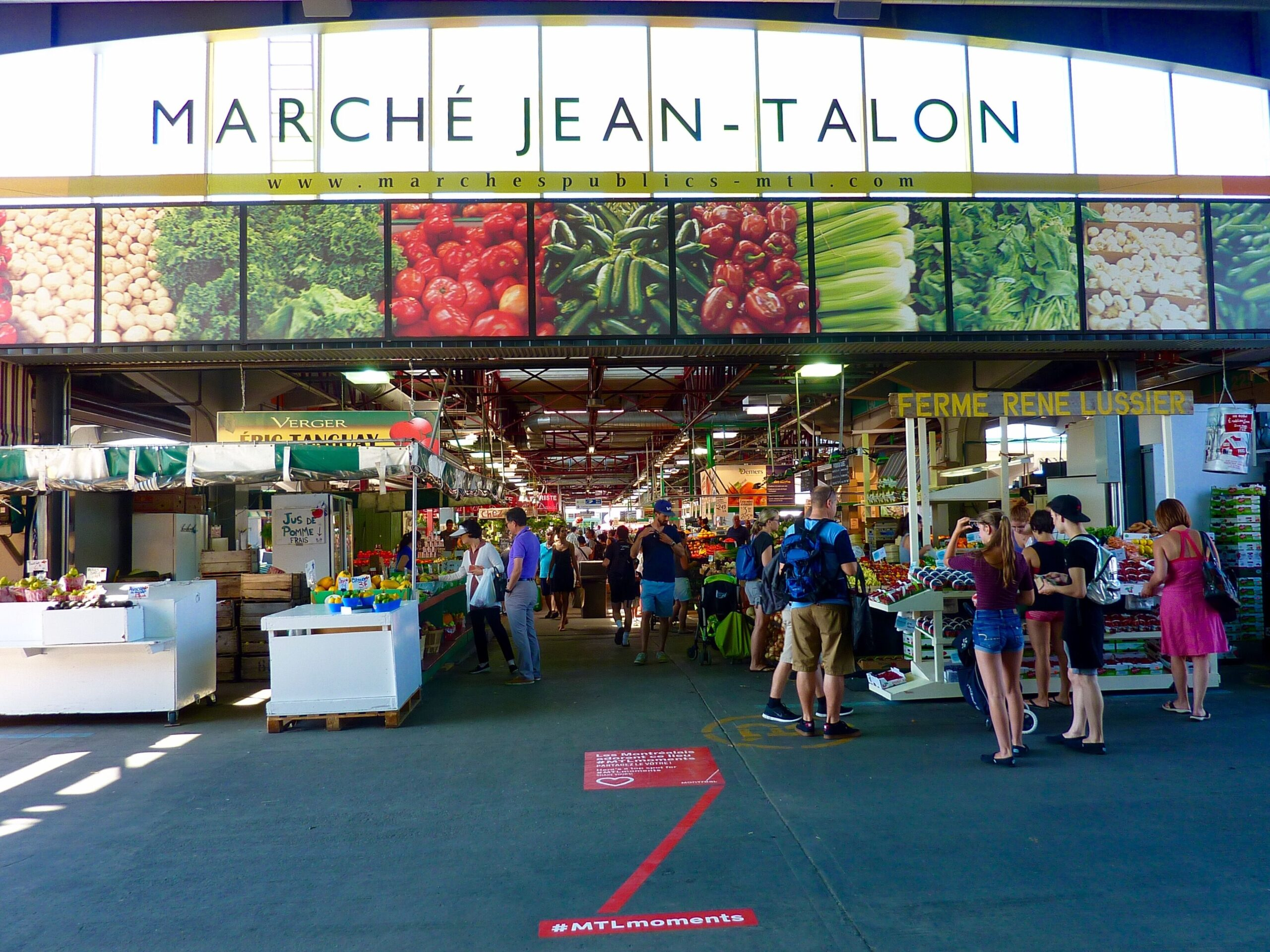 Marché Jean-Talon, the city's oldest public market in the heart of Little Italy