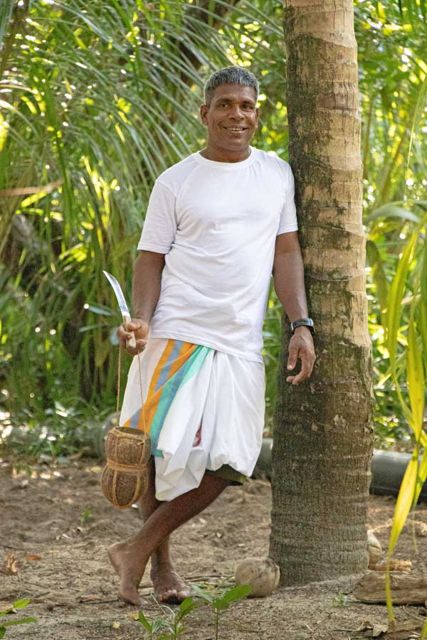 Haroon Ibrahim is a toddy tapper at Coco Palm Dhuni Kohlu in the Maldives