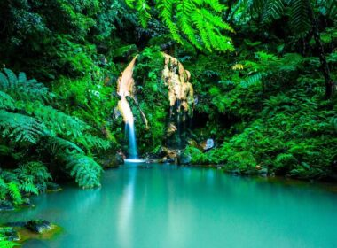 One of the top things to do in the Azores is hiking to waterfalls.