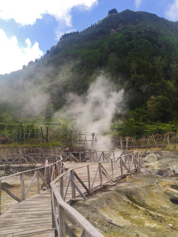 Hot spring at Ponta da Ferraria