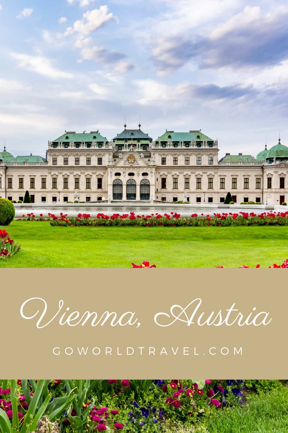Vienna in the spring is a beautiful place, such as the gardens at Belvedere Palace.