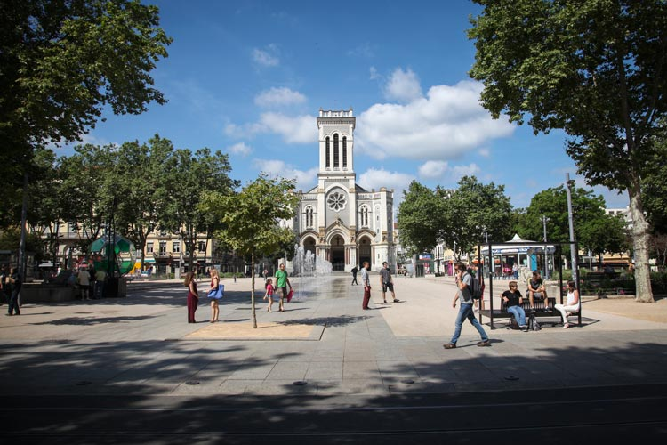 Place Jean Jaures in Saint-Étienne