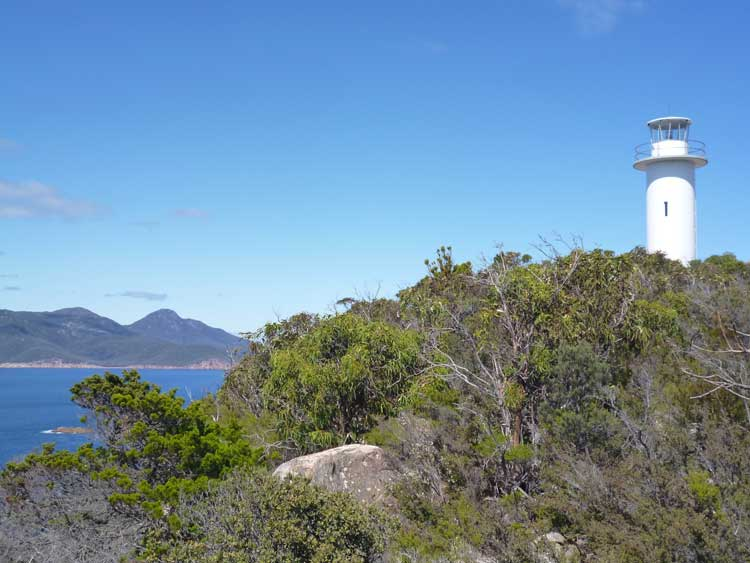 Tourville Lighthouse in Tasmania, Australia