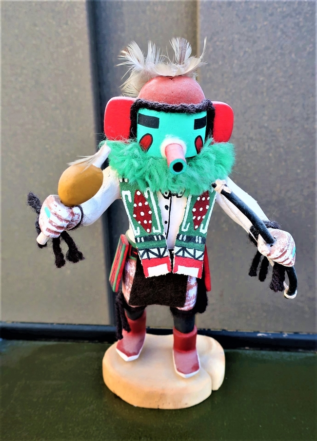 This Kachina doll recalls centuries of Native American lore. Photo by Victor Block