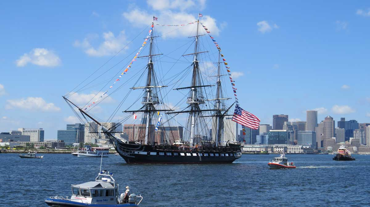 The USS Constitution holds a lottery. Lucky winners can sail with the ship into Boston Harbor. Photo by Kim Foley MacKinnon