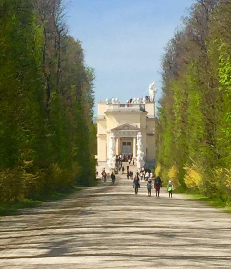 Walking through the gardens at Schönbrunn Palace. Photo by Janna Graber