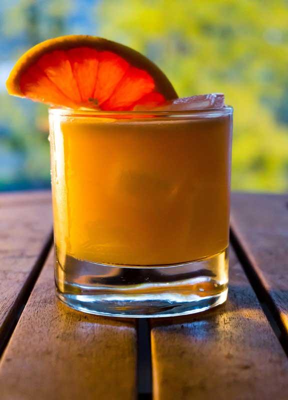 Belize rum coconut cocktail