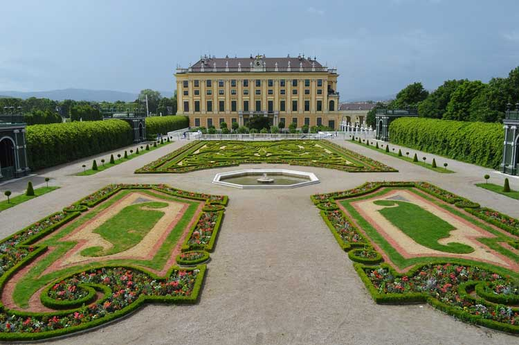 Schönbrunn Palace was the summer home of the Hapsburgs