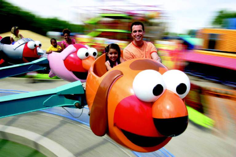 There are rides for kids of all ages. Photo by Six Flags