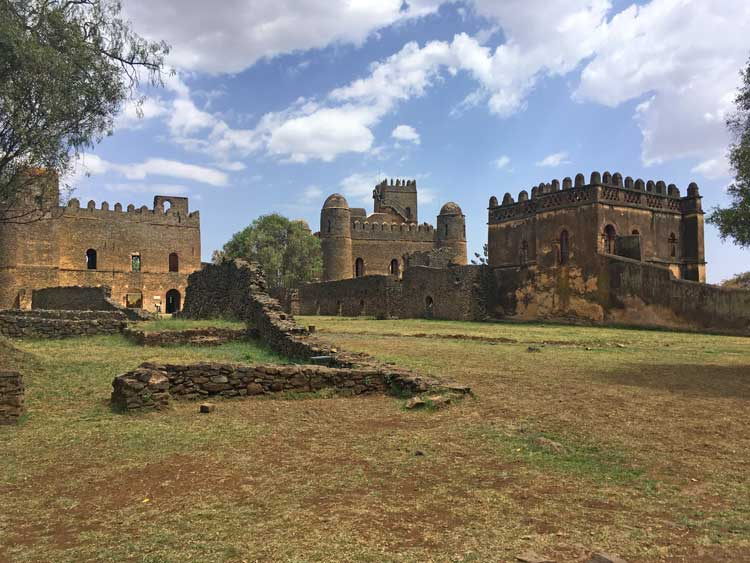 """King Fasilides' castles,nicknamed the """"Camelot of Ethiopia. Photo by Victor Luu"""