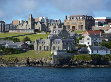 The Shetland Islands in Scotland