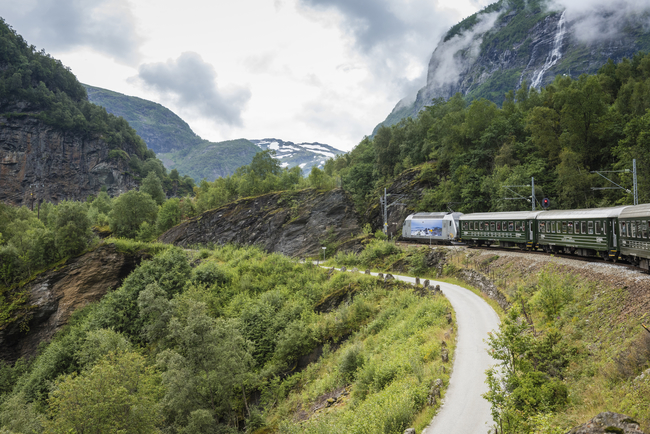 The Flam Railway Offers Panoramic Views of Magnificent Scenery. Photo by Margaret De Groot5031/Dreamstime.com