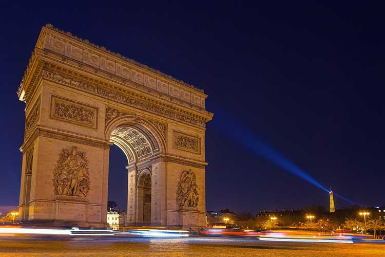 See the Arc de Triomphe in Paris, France