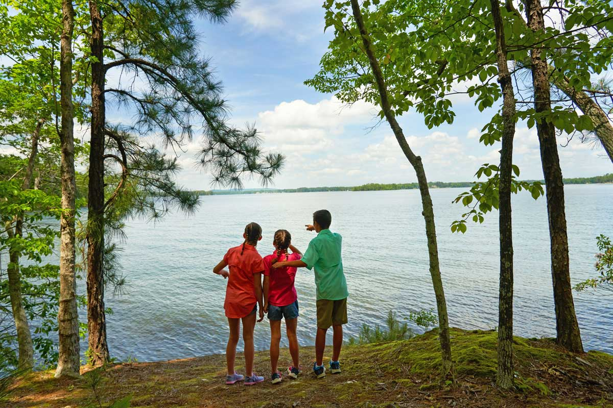 A family lake vacation on Dreher Island in Wisconsin.