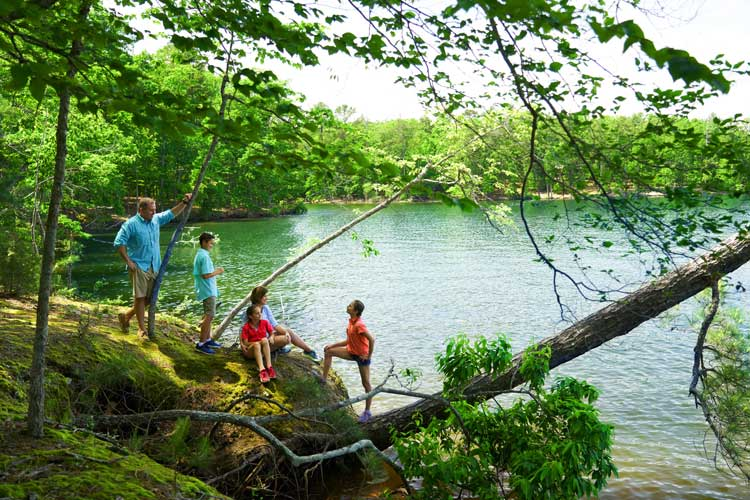 A family lake vacation at Dreher Island in South Carolina.