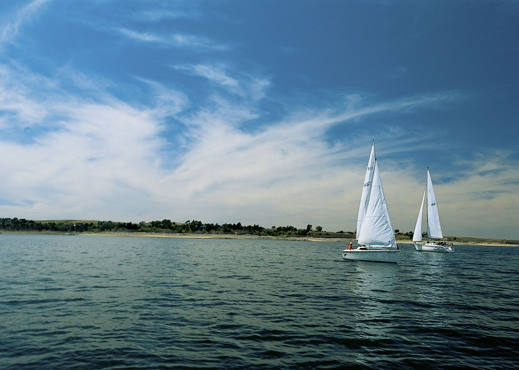 Sailing on Lake McConaughy in Nebraksa