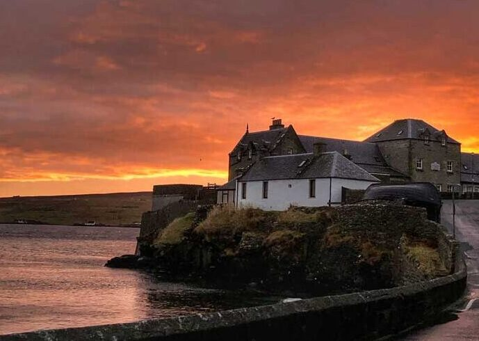 Bucket List Idea: Scotland. Spectacular sunsets across the skies of the Shetland Islands Scotland
