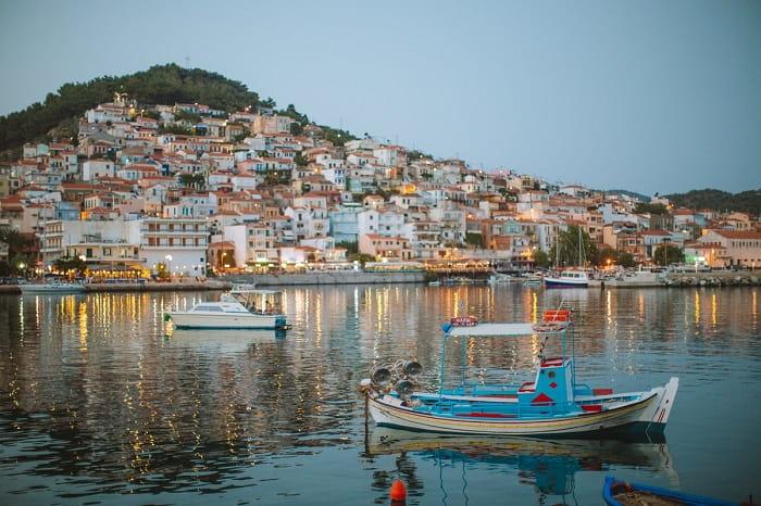 Travel in Santorini, Greece.