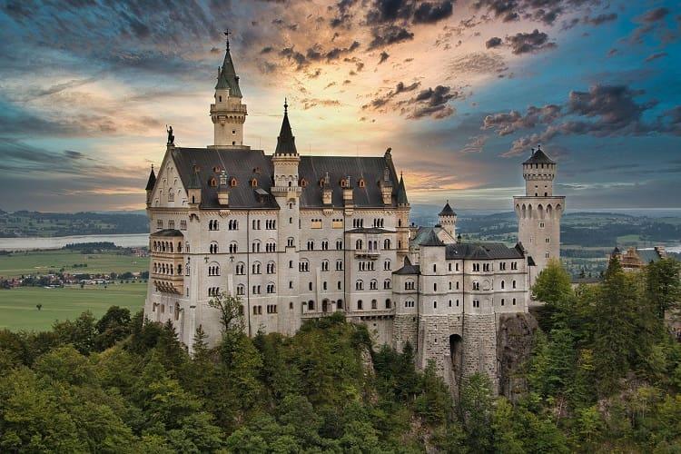 Fairytale castle of kristin bavaria, Germany