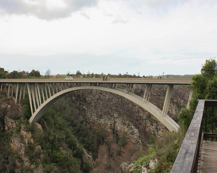 Storms River Bridge in Africa