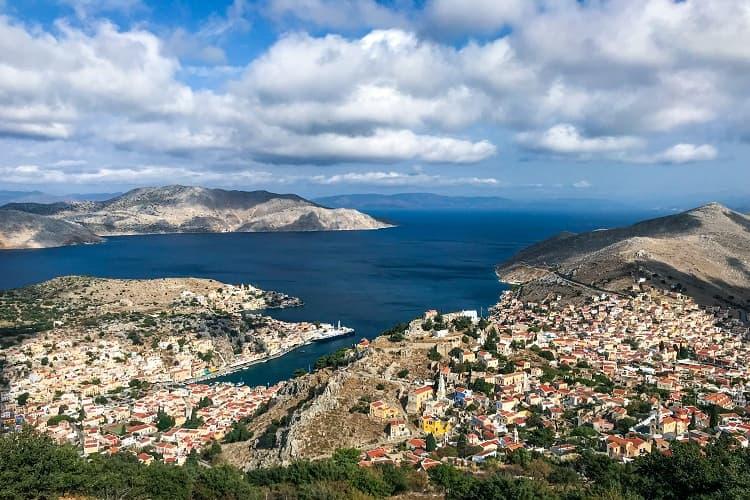 The amazing view of Symi, Greece