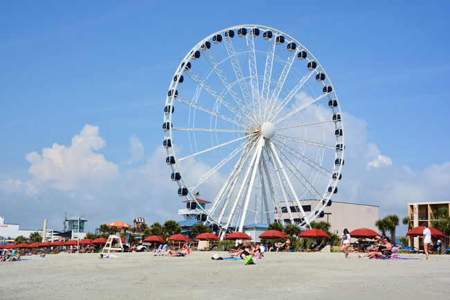 The SkyWheel provides a bird's eye view over Myrtle Beach, South Carolina. Photo by Meunierd/Dreamstime.com