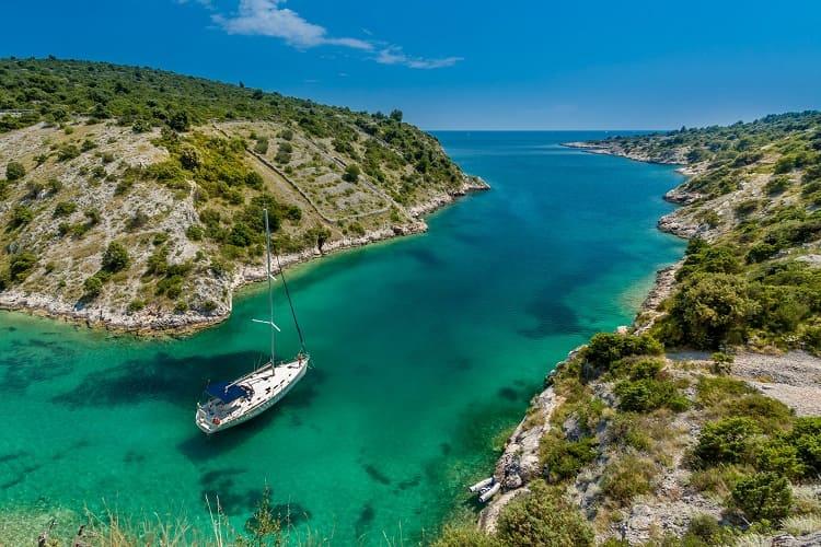Wonderful view of lake, Trogir, Croatia
