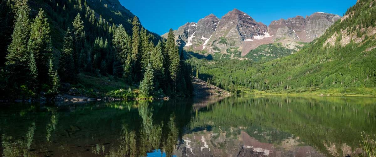 Maroon Bells is an iconic destination in Aspen, Colorado. Photo C2 Photography
