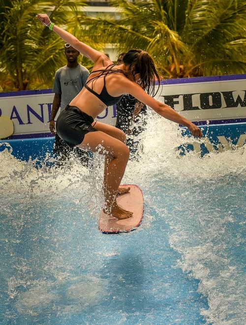 Aside from fishing, golfing and snorkeling, travelers can also participate in water activities at the resort.
