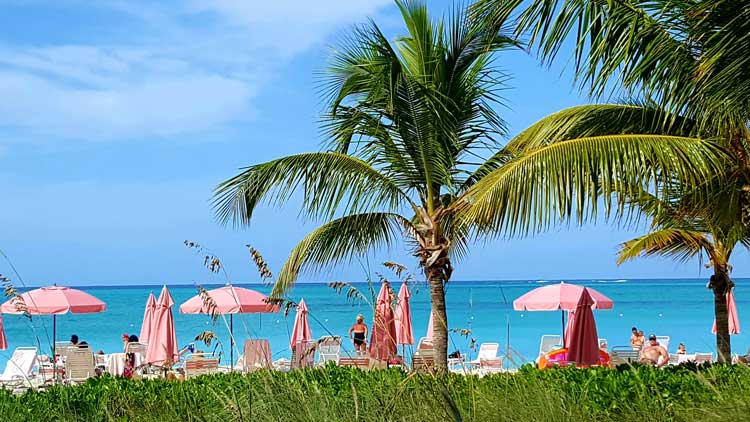 People enjoying the sun and sand in Middle Caicos.