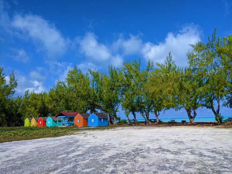 Some colorful beachfront houses found in Middle Caicos.