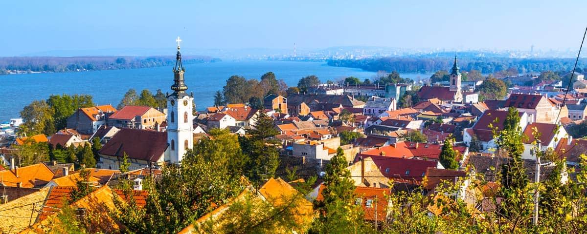 The city of Belgrade, Serbia.
