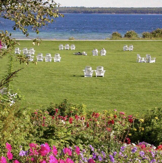 Mission Point Resort lawn