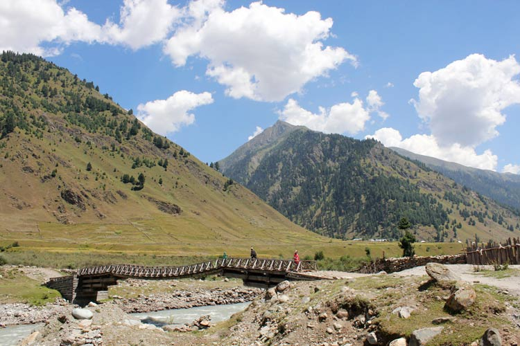 The Basmin Valley, the starting point of Kishtwar-Panikhar Trek. This is the last point for any sort of vehicular traffic, as beyond this village there is no road. Photo by: Shafat Mir