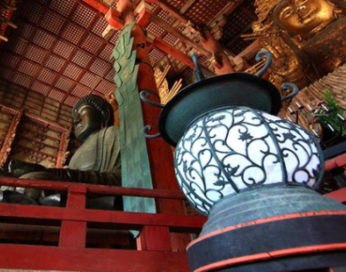 One of the temples in Osaka.