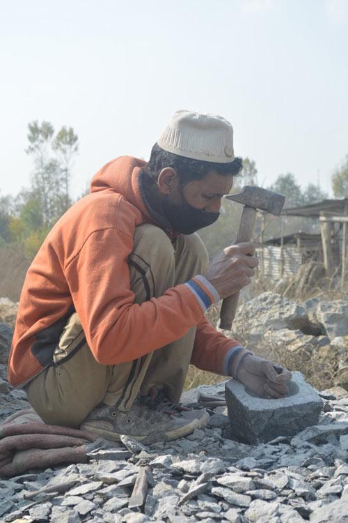 SANG TARAASH, the master stone mason.