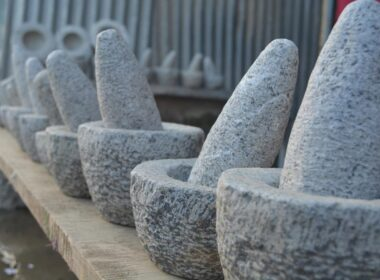 The tools made and used by the stone masons of Kashmir