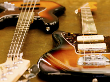 Guitars and other instruments in ranging conditions are sold at Unclaimed Baggage Store