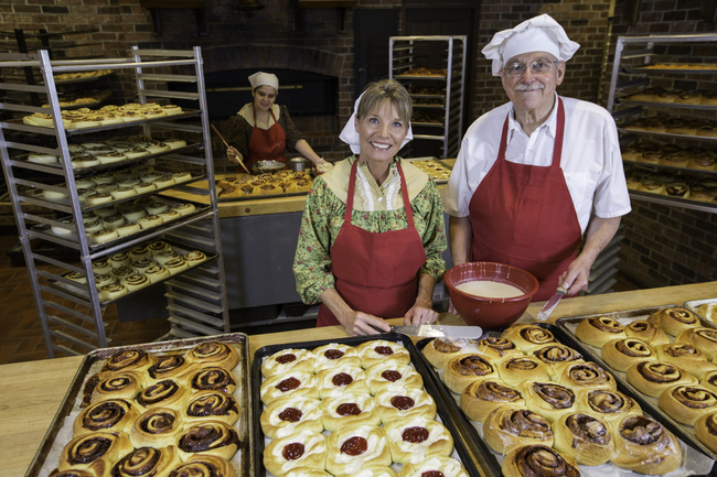Taste-tempting treats greet visitors to Eva and Delilah's Bakery in Branson, Missouri. Photo: Silver Dollar City