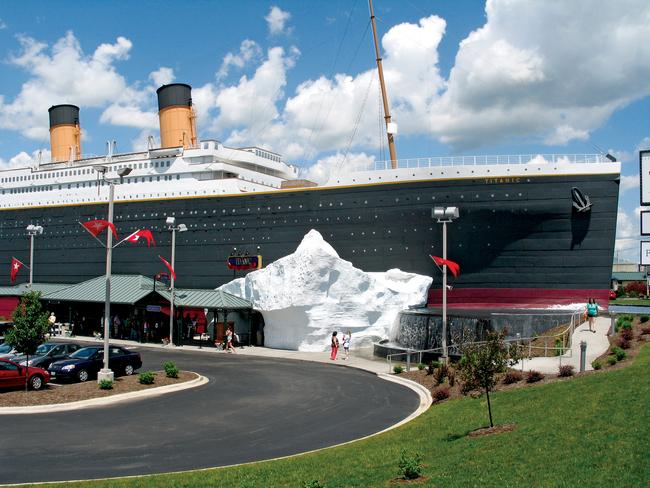 A replica of the Titanic at dock in Branson, Missouri . Photo: Explore Branson