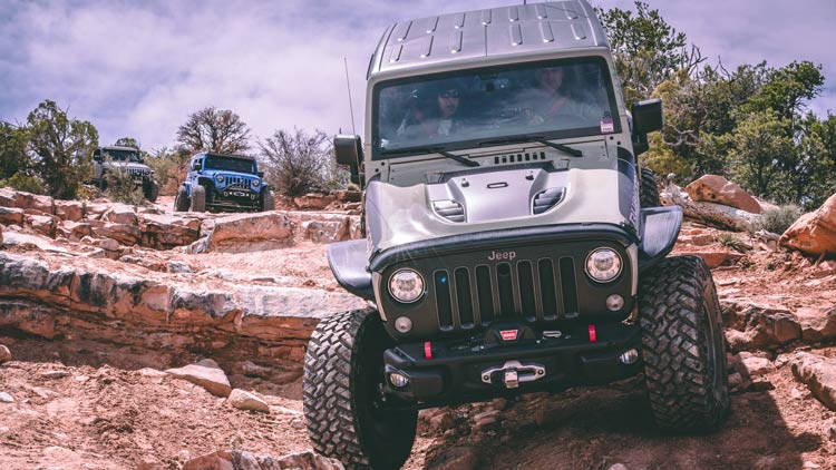 A guided off-roading tour going deep into the canyons in Moab.