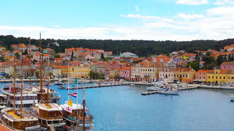 The colorful island of Mali Losinj in Croatia.