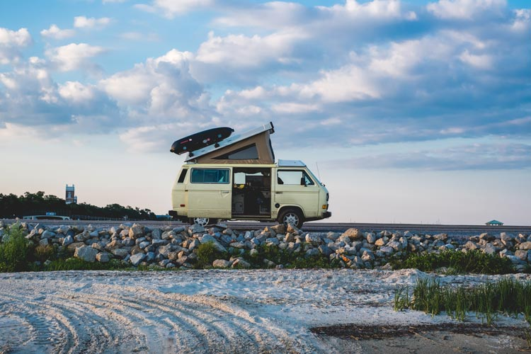 Many people travel in campers along the coasts of Croatia.
