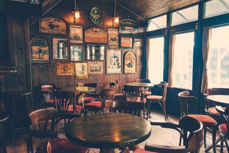 Cozy cafe with rustic theme near Belgrade.