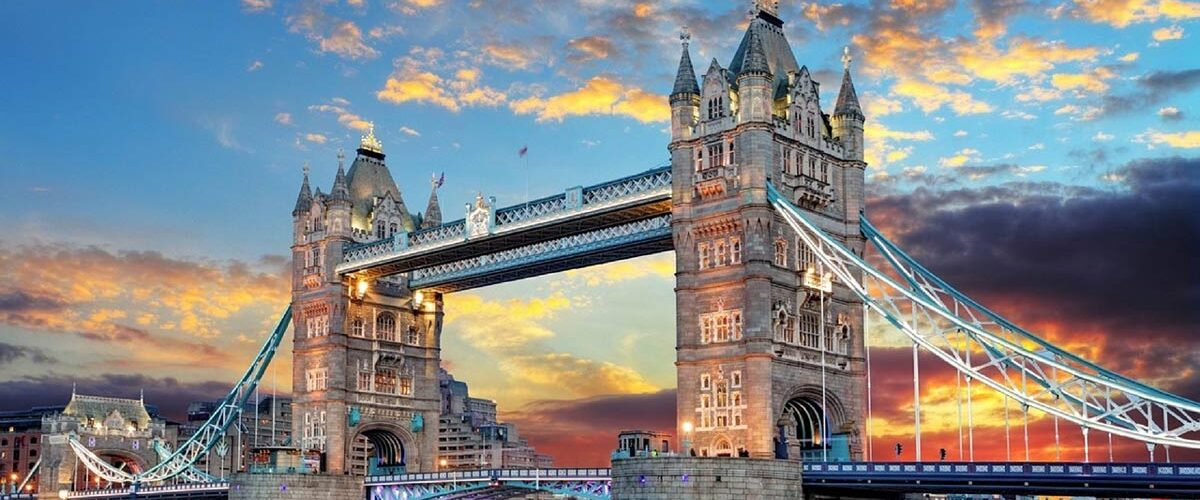 The famous Tower Bridge in London, UK.